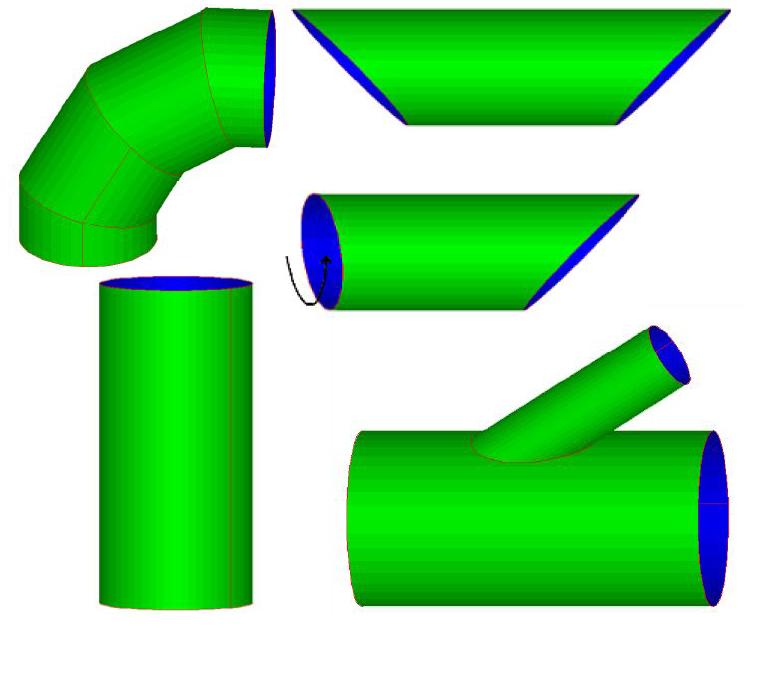sample pipe shape developments